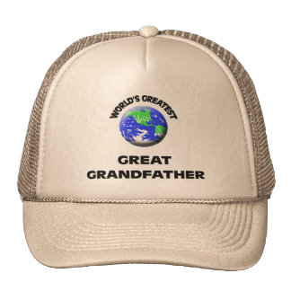 World s Greatest Great Grandfather Hats