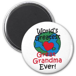 World's Greatest Great Grandma Heart 2 Inch Round Magnet