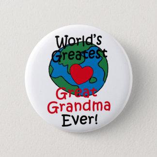 World's Greatest Great Grandma Heart Pinback Button