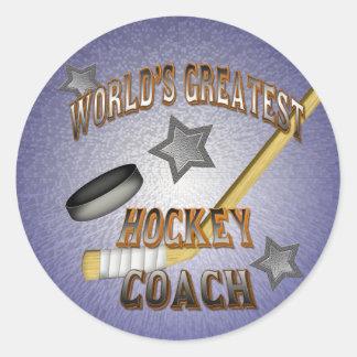 World s Greatest Hockey Coach Stickers