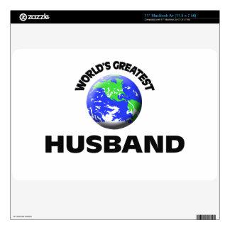 "World s Greatest Husband 11"" MacBook Air Decals"