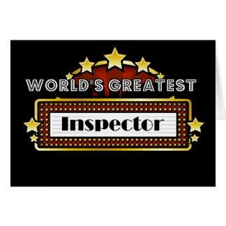 World s Greatest Inspector Card