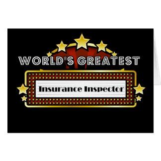 World s Greatest Insurance Inspector Card