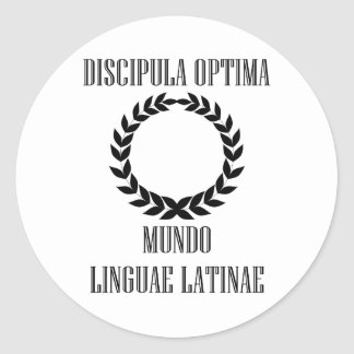 World's Greatest Latin Student (Female) Classic Round Sticker