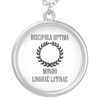 World's Greatest Latin Student (Female) Silver Plated Necklace