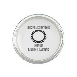 World's Greatest Latin Student (Male) Photo Rings