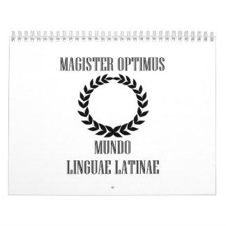 World's Greatest Latin Teacher (Male) Calendar