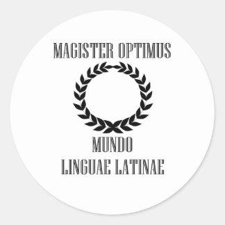 World's Greatest Latin Teacher (Male) Classic Round Sticker