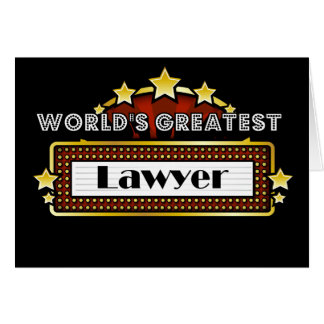 World s Greatest Lawyer Card