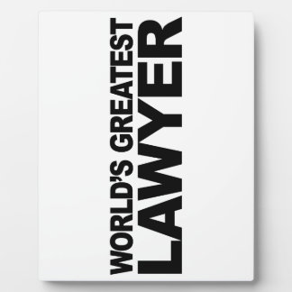 World s Greatest Lawyer Plaques