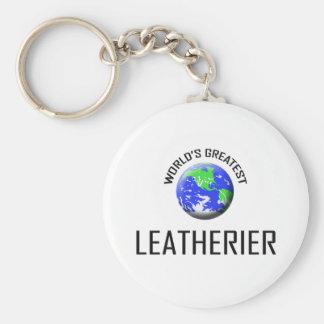 World s Greatest Leatherier Keychain