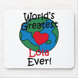 World's Greatest Lola Heart Mouse Pad