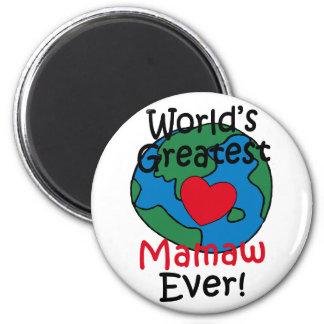 World's Greatest Mamaw Heart Magnet