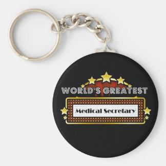 World s Greatest Medical Secretary Keychain