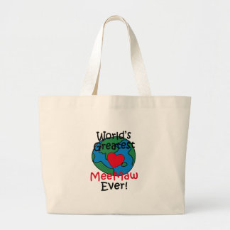 World's Greatest MeeMaw Heart Jumbo Tote Bag