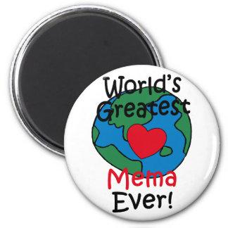 World's Greatest Mema Heart Magnet