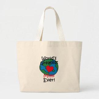 World's Greatest Mimi Heart Jumbo Tote Bag