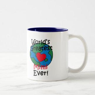 World's Greatest Mimi Heart Two-Tone Coffee Mug