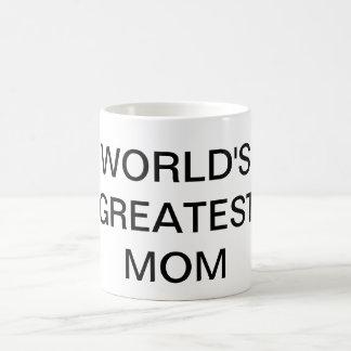 WORLD S GREATEST MOM Text Coffee Mug Drinkware