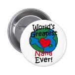 World's Greatest Nana Heart 2 Inch Round Button