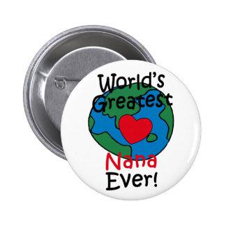 World's Greatest Nana Heart Pin