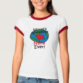 World's Greatest Nana Heart Tshirt