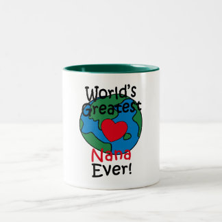 World's Greatest Nana Heart Two-Tone Coffee Mug