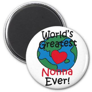 World's Greatest Nonna Heart Magnet