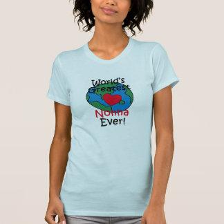 World's Greatest Nonna Heart Tee Shirts