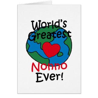 World's Greatest Nonno Heart Card