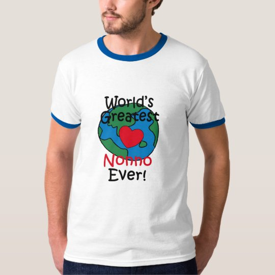 World's Greatest Nonno Heart T-Shirt