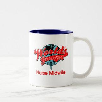 World s Greatest Nurse Midwife Mugs