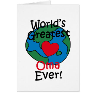 World's Greatest Oma Heart Card