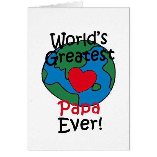 World's Greatest Papa Heart Card