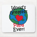 World's Greatest Papa Heart Mouse Pad