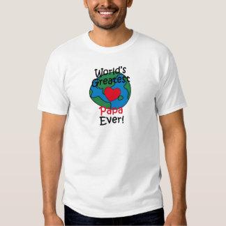 World's Greatest Papa Heart T Shirt