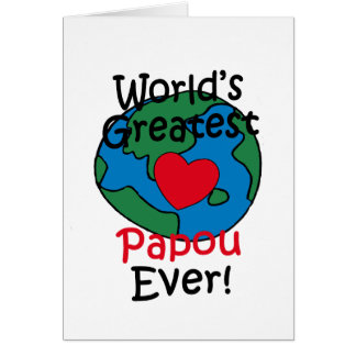 World's Greatest Papou Heart Greeting Cards