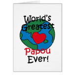 World's Greatest Papou Heart Greeting Card