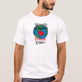 World's Greatest Poppa Heart T-Shirt