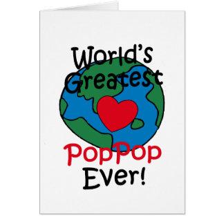 World's Greatest PopPop Heart Card
