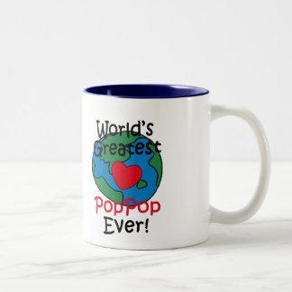 World's Greatest PopPop Heart Two-Tone Coffee Mug