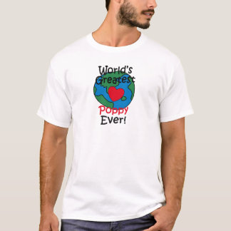 World's Greatest Poppy Heart T-Shirt