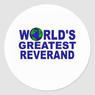 World s Greatest Reverend Sticker