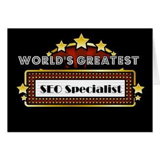 World s Greatest SEO Specialist Greeting Card