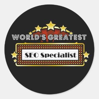 World s Greatest SEO Specialist Sticker