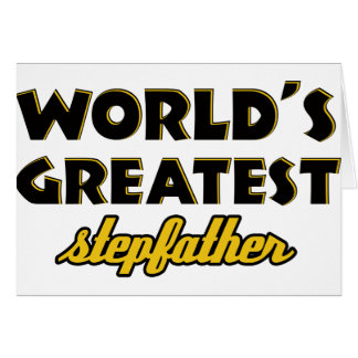 World s greatest stepfather cards