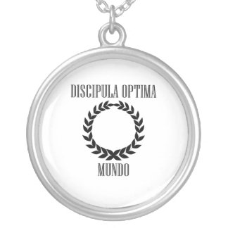 World's Greatest Student (Female) Silver Plated Necklace