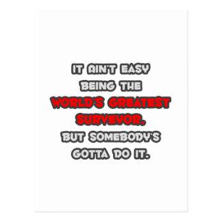 World s Greatest Surveyor Joke Postcard