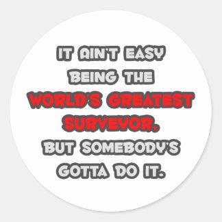 World s Greatest Surveyor Joke Round Sticker