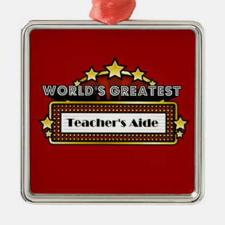 World s Greatest Teacher s Aide Ornament